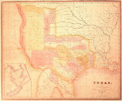 Map of Texas - 1834