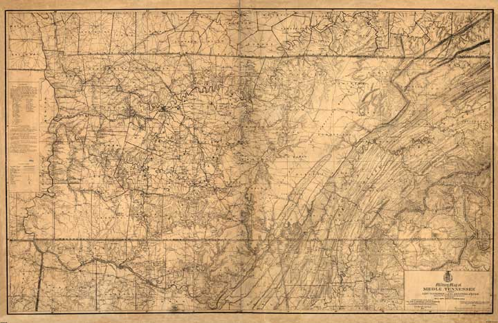 Military Map of Middle Tennessee