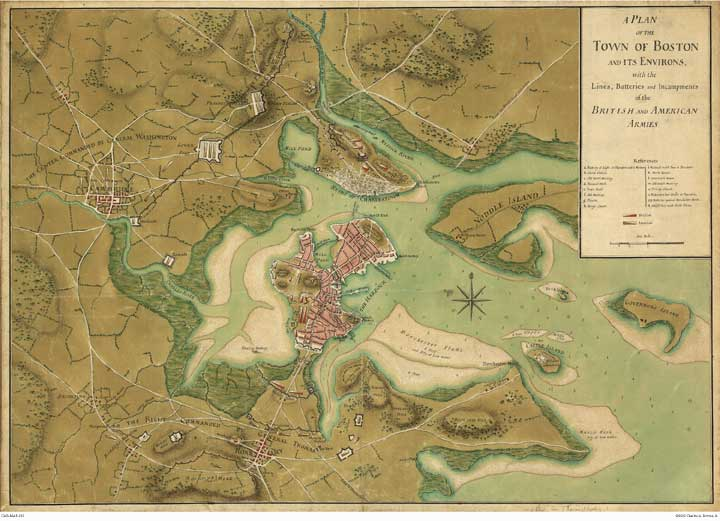 Boston Map 1776
