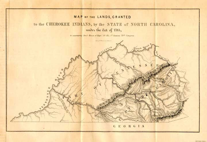 Cherokee Lands of North Carolina under the Act of 1783