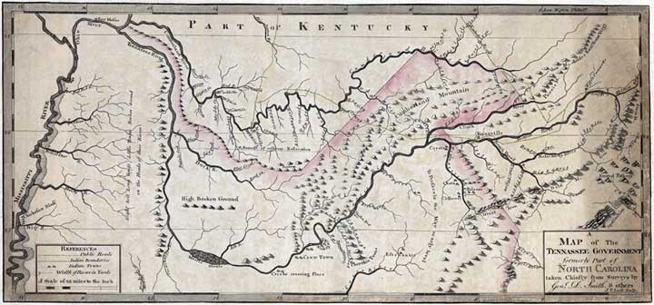 A Map of the Tennessee Government 1795