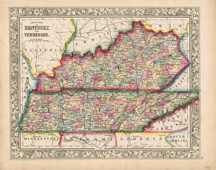 Tennessee and Kentucky 1860