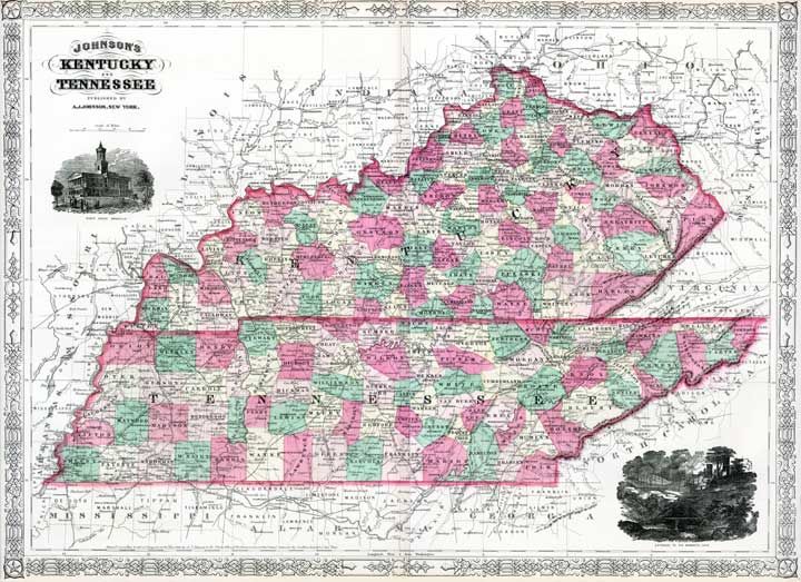 Kentucky and Tennessee in 1865