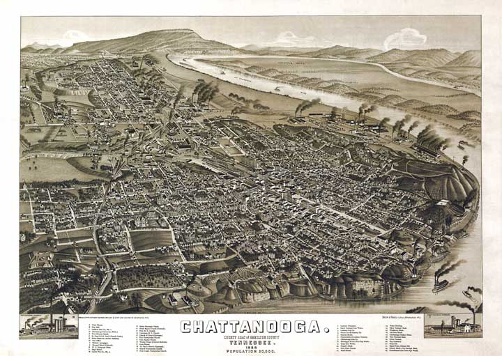 Chattanooga in 1886