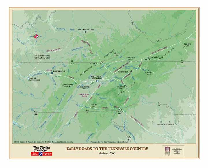 Early Tennessee Roads before 1796