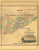 USA: Southern: Map: Matthew Rhea's Original Maps for Alabama and Tennessee