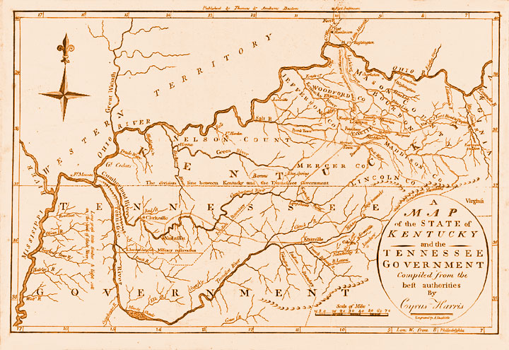 Tennessee and Kentucky 1796