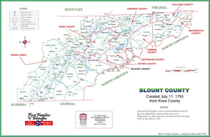Blount County, TN Map