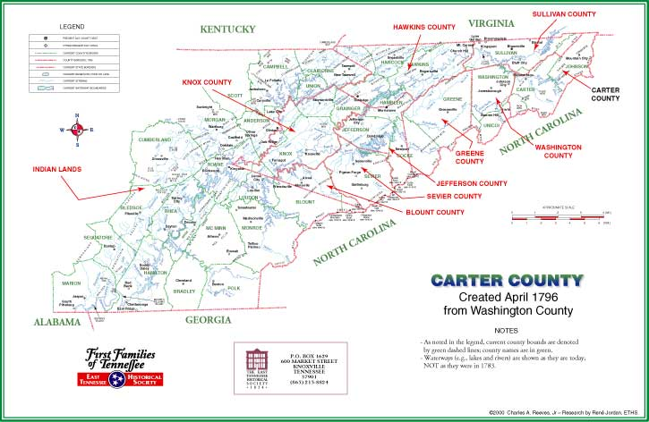 Carter County, TN Map