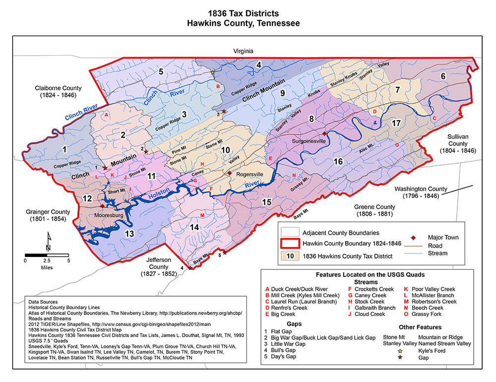 State Maps For Mountain Press - Map of counties in tennessee