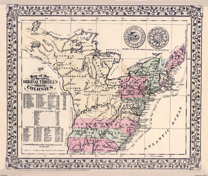 Original Thirteen Colonies