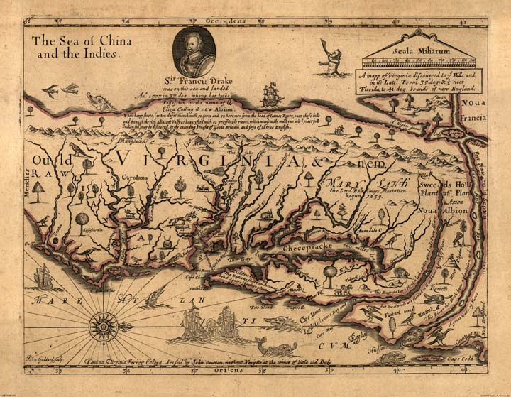 Map of Virginia 1667