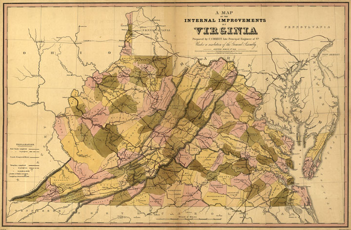 Map of Virginia (and West Virginia) 1848